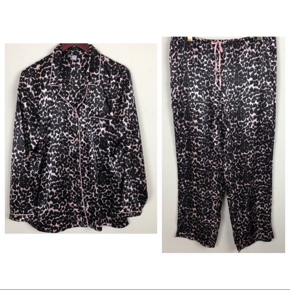 caca4188e3 Kmart Other -  Pink K Kmart Leopard   Pink Top Bottom Pajama Set